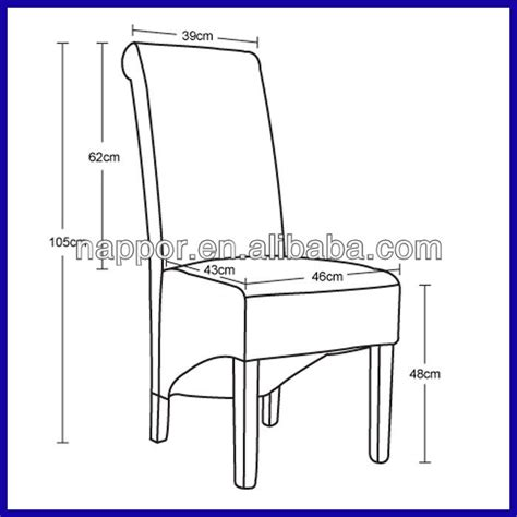 Dining Chair Height Standard Scroll High Back Solid Wood Pu Leather Dining Chair Images Frompo