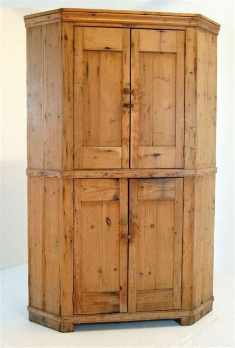 Antique Larder Cupboard - antique pine corner cabinet cupboard larder