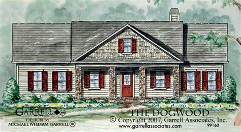 dog wood house dogwood house plan house plans by garrell associates inc