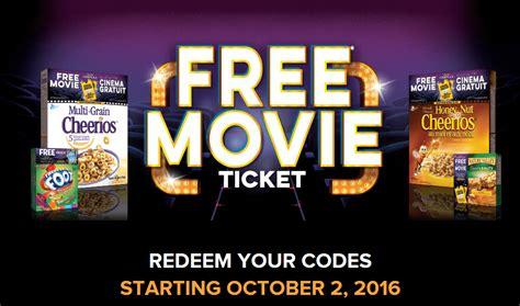 cineplex free movie offer general mills cineplex free movie offer back this month