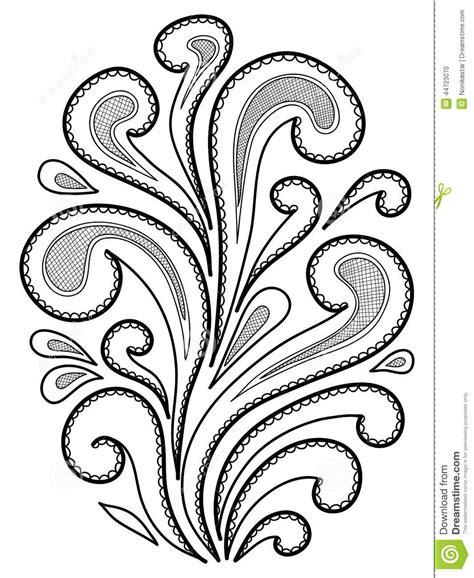 disegni astratti fiori fiori astratti disegnati a mano illustrazione vettoriale