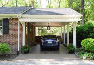 How To Attach Pergola To House by Building A Garage Or Carport Pergola Young House Love