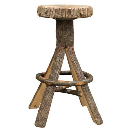 rustic hickory bar stools rustic hickory split log bar stool with trunk seat