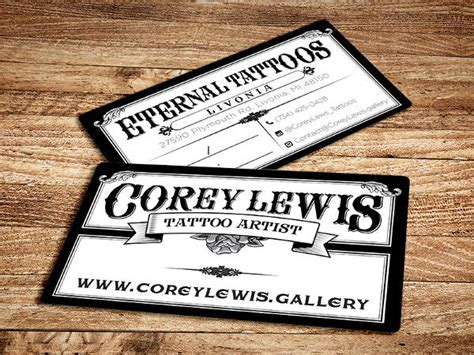 tattoo visiting card design 11 business card templates free premium templates