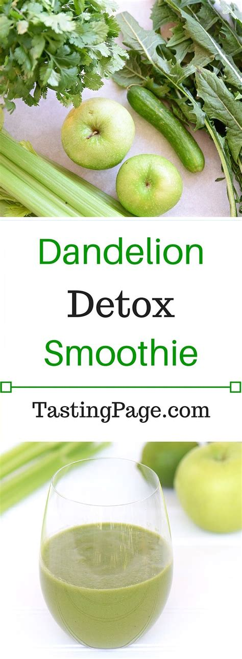 Paleo Detox Smoothie by Dandelion Detox Green Smoothie Gluten Coconut And