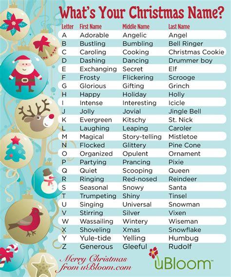 holiday fun   elves  ubloom whats  christmas  christmas names