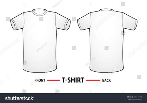 shirt template back vector t shirt templates white shirt with front side and