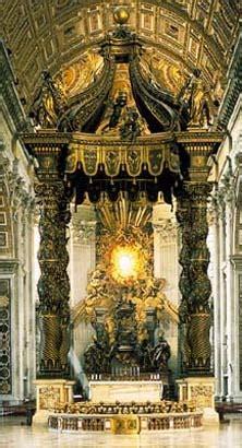 Caratterizzano Il Baldacchino Di Bernini In San Pietro by Baldacchino Di San Pietro