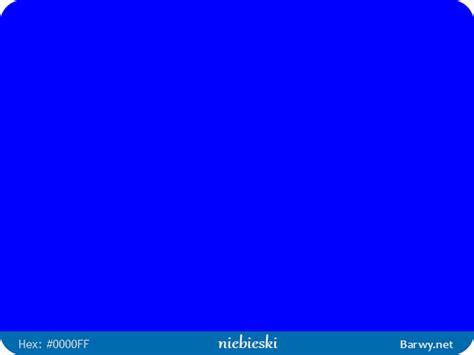 0000ff color kolor rgb hex 0000ff niebieski blue blau barwy net