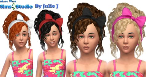 my sims 4 blog ts3 hair bow conversion by llenies my sims 4 blog ts3 bow hair for girls by juliej