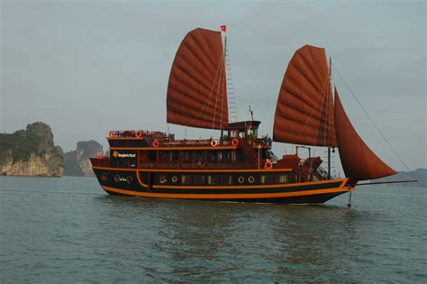 Wooden House Plans by Halong Dragon Pearl Junks Daily Overnight Cruise Tours To