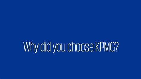 Why Did You Decide To Do An Mba by Grad Q A Why Did You Choose Kpmg
