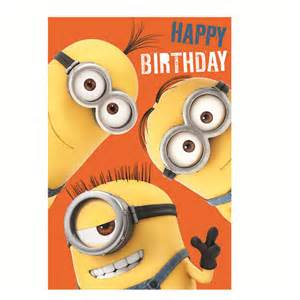 happy birthday minions height chart card de036 character brands