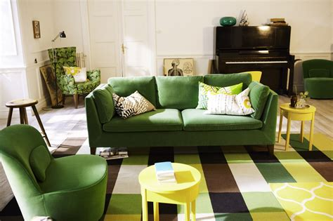 green sofa living room savanna interior new collection ikea stockholm