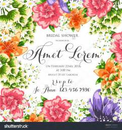 Wedding Flowers Free Brochure by Flower Vector Background Brochure Template Set Of Floral