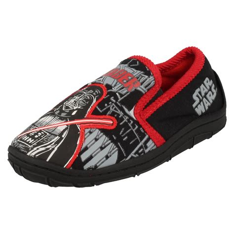 darth vader house shoes character boys slippers darth vader ebay