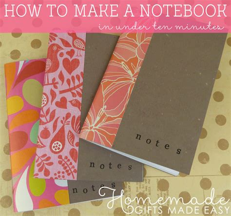 How To Make Paper Notebook - how to make a notebook
