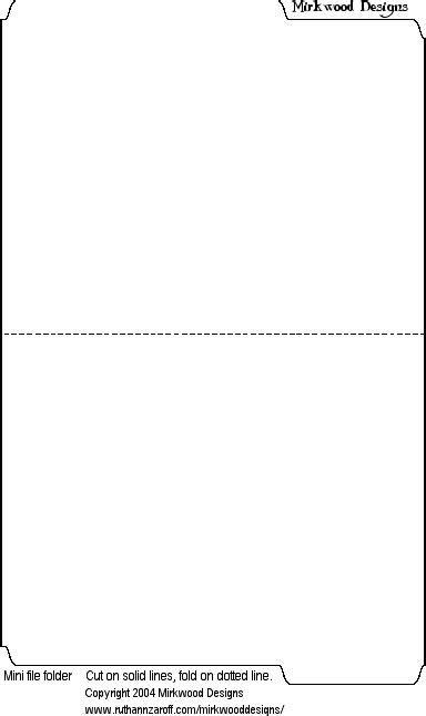 Mini Manilla File Folder Template Minifolder Gif 384 215 644 Pixels Printable Prints Crafts File Folder Template