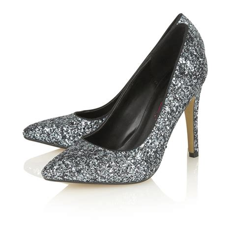 glitter shoes buy dolcis chiara pointed toe glitter court shoe