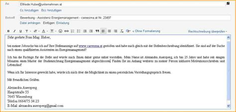 Bewerbung Anschreiben Email Adrebe 11 Bewerbung Per Email Muster Questionnaire Templated