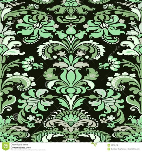 colorful damask wallpaper colorful damask seamless floral pattern background stock