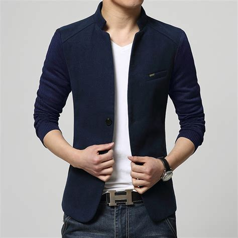 Top Blazer M Fit L Babyterry Quality מוצר 2015 new mens blazer patchwork suits for top