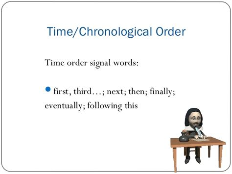 time order pattern of organization words time order pattern of organization words recognizing