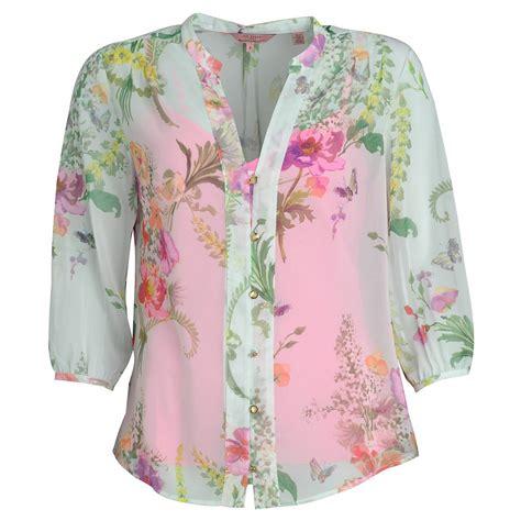 Flower Blouse ted baker shirt mint kimmie wallpaper floral print blouse