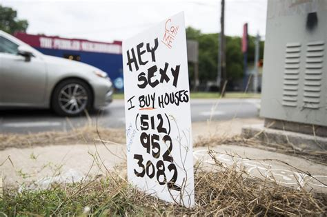 we buy houses austin what s up with those handmade we buy houses signs around austin kut