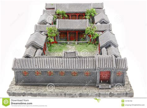 asian house designs and floor plans chinese courtyard model royalty free stock images image