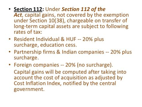 section 112 income tax act mutual fund ppt