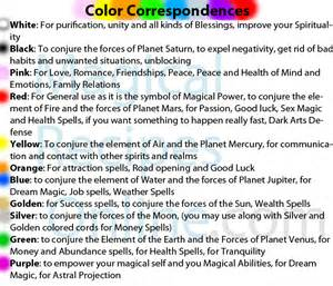meaning of candle colors knot magic tie a knot bind magical power to your