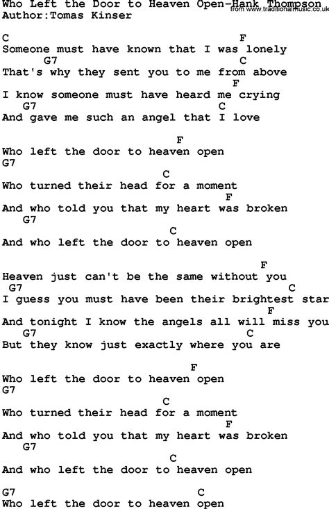 Is An Open Door Lyrics And Chords by Is An Open Door Chords Bob Song Open The Door Homer