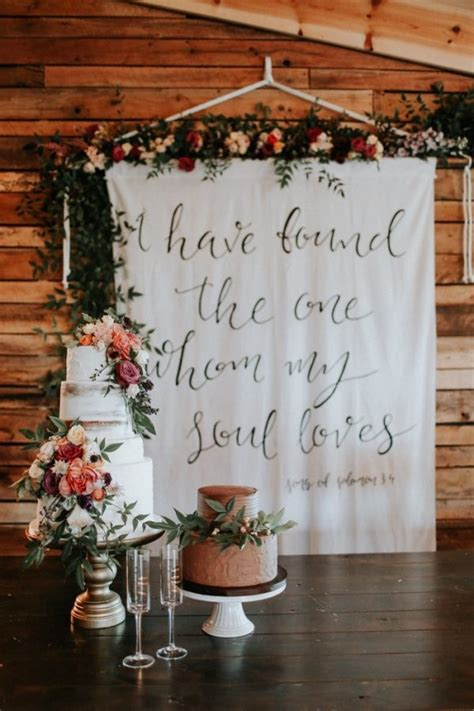 Wedding Backdrop Board by Fall Wedding Cake And Banner Backdrop Wedding
