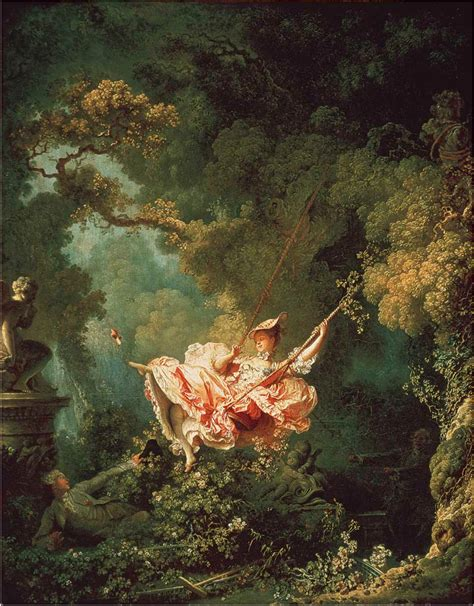 rococo the swing jean honore fragonard the swing quotes