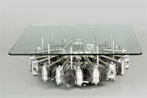 aircraft parts coffee table furniture