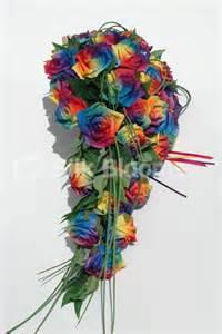 Calla Lily Corsage Vibrant Rainbow Rose Pride Wedding Bridal Bouquet 233 38 Silk Wedding Flowers By Silk