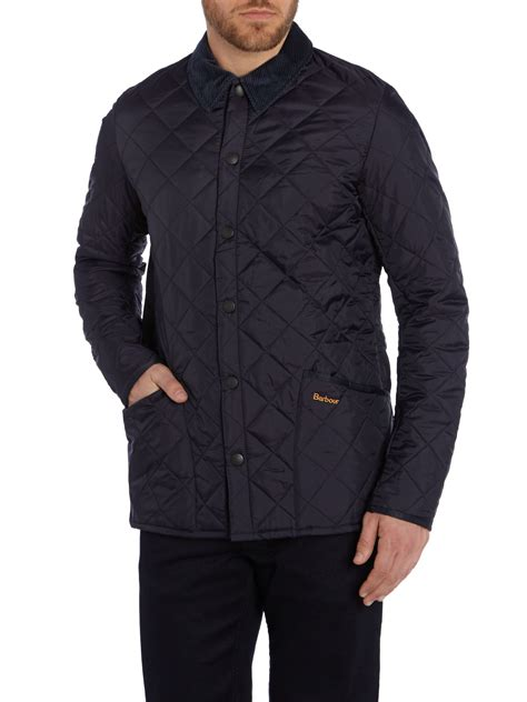 barbour heritage liddesdale quilted jacket in blue for