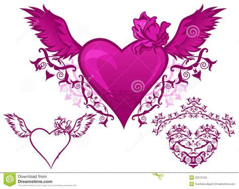 imagenes de corazones goticos con alas dibujos de corazones con espadas para colorear photo