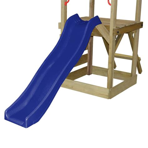 action 4 piece swing set with slide wooden playset with ladder slide swings and goal s
