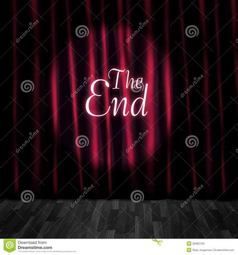 the end curtains closed theatre stage curtains at performance end royalty