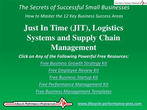 Mba In Logistics And Supply Chain Management In India by Just In Time Jit Logistics Systems And Supply