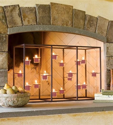 fireplace screen candle holder candle holders for fireplace mantel fireplace designs