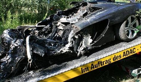 mclaren p1 crash test mclaren mp4 12c test drive ends in crash fire