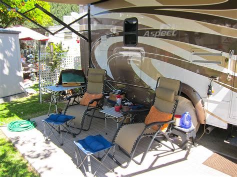 Patio Setup by We Are Time Rvers Trek With Us
