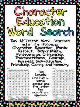 free printable word search on respect free character education word search two levels back to
