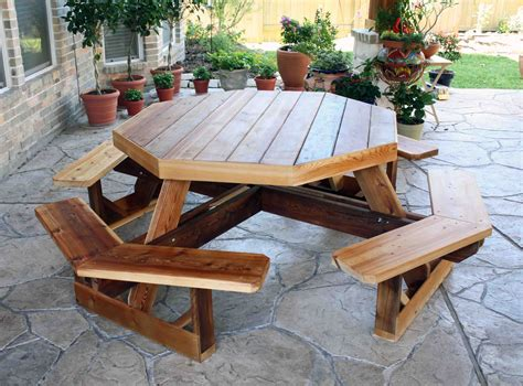 Octagon Patio Table Plans Cedar Creek Woodshop Porch Swing Patio Swing Picnic Table Bird House