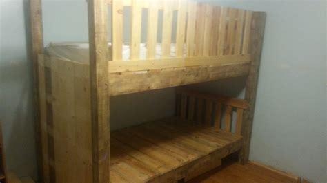 diy pallet bunk bed diy pallet bunk bed