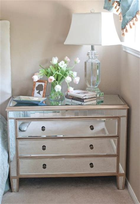 mirrored dresser cheap top from a plain nightstand to a mirrored nightstand and dresser woodworking projects plans