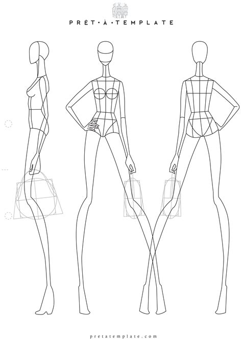 Woman Body Figure Fashion Template D I Y Your Own Fashion Sketchbook Keywords Fashion Fashion Drawing Template